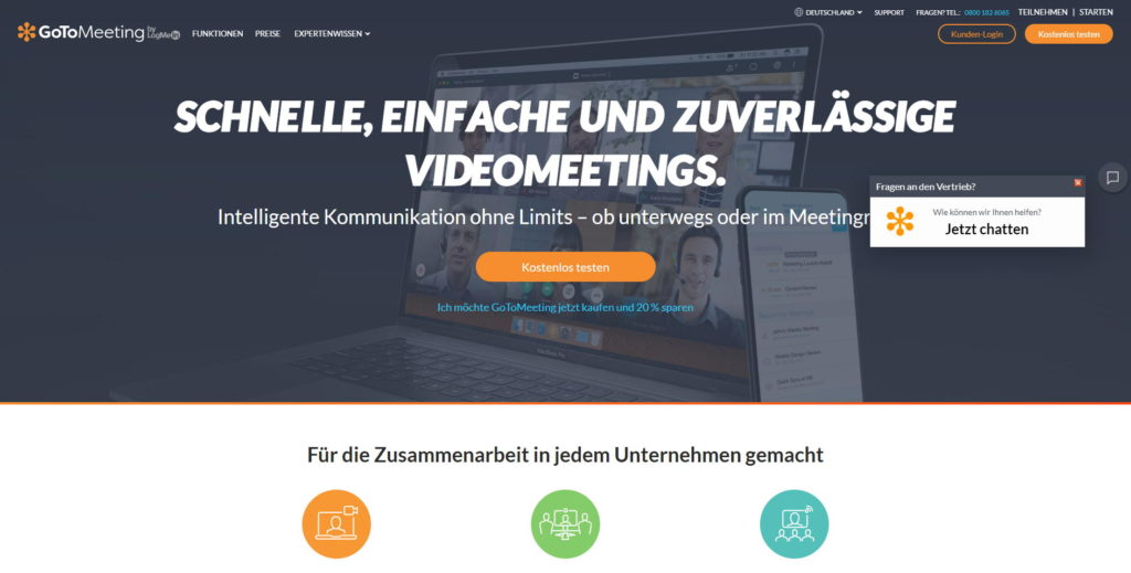 GoToMeeting: Video-Meetings mit Aufnahmefunktion